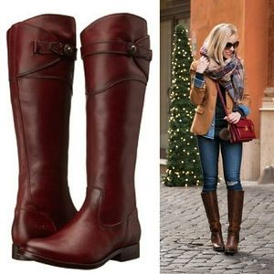 FRYE Molly Button Tall Knee Boots 9.5M Redwood